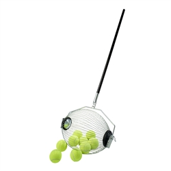 Kollectaball pickleball pickup rolling hopper with green balls