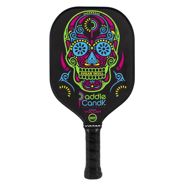 Vulcan Paddle Candy Skull pickleball paddle