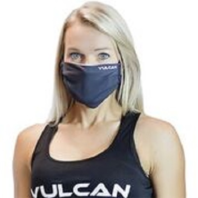 athlete wearing performance face mask