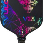 Vulcan V530 picklebal paddle lazer rainbow
